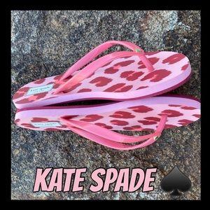 ❤️♠️NWT♠️❤️Kate Spade cheetah print flip flops
